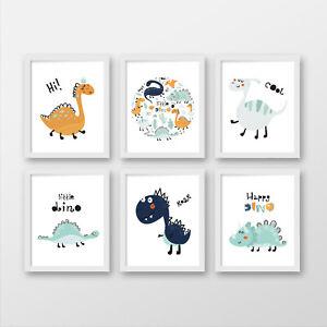 Dinosaurs wall prints, Cute dino nursery prints, Dino nursery decor, dino gift