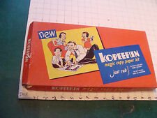 Orig. Vintage toy: KOPEEFUN 1946 in box, w extra paper, designs, a color pages
