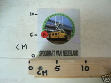 STICKER,DECAL NS DE STANDAARD STOPTREIN NO 6 SPOORHART VAN NEDERLAND