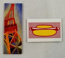 2x RARE Collectable Fridge Magnets, Pompidou Art Museum, Paris. Famous Paintings