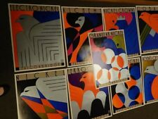 Complete Set 12 Vintage Iconic Art Deco Falconbridge Posters Signed Theo Dimson