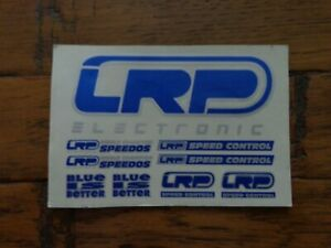 Vintage Radio Control Car/Buggy LRP Electronics Decal Sheet-Blue-Look!