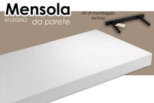 MENSOLA BIANCA 00*25*4 CM PARETE LEGNO MDF + KIT MONTAGGIO SCAFFALE 621734