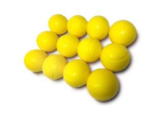 E-Deals 70mm Soft Foam/Sponge Balls - Pack of 12 Yellow