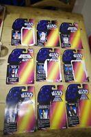 Star Wars Kenner Card Backs Red  Princess Leia Luke Skywalker R2-D2 C3-P0 POTF