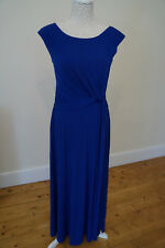 Ladies Party / Formal Dress Stretch Fabric Long Length Sleeveles Blue Size 8