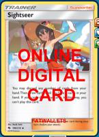 4X Sightseer 189/214 Pokemon Online Card TCG PTCGO Digital Card