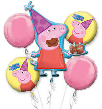 Peppa Pig Party Supplies 5 FOIL BALLOON BOUQUET Genuine Anagram Licensed