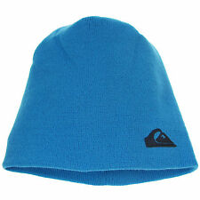 Warm Ski Quiksilver Beanie Hat Cap Unisex Synthetic Acrylic Blue One Size