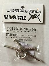 Nail Puzzle (Chrome Plated) by Americana Trick - Magic Tricks Tons of fun 70712