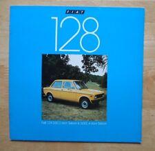 FIAT 128 1100 Saloons orig 1978 UK Mkt sales brochure
