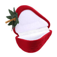 Gift Box Jewelry Box Ring Box Red Ring Jewelry Elegant Flannel Fruit Shape Party
