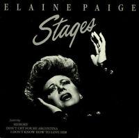 Elaine Paige Stages UK vinyl LP album record NE1262 K-TEL 1983 EXCELLENT COND