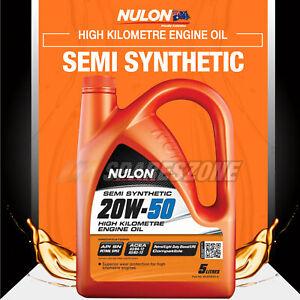 Nulon Semi SYN 20W-50 Engine Oil 5L for Holden E F H Series Nova Piazza Rodeo