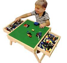 WOOD Chalkboard Folding Storage Play Table Compatible with Lego Duplo Kid custom