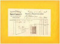 "TOULOUSE (31) USINE STE-ANNE / SIEGES CHAISES CHAUFFEUSES ""FIQUET & CABLAT"" 1897"