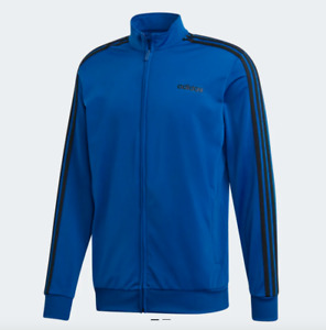 adidas Track Jacket Mens 4XL Authentic Essentials 3 Stripe Tricot Training Blue