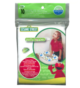 NEW Sesame Street Potty Topper 10-pk. Disposable Toilet Seat Covers.