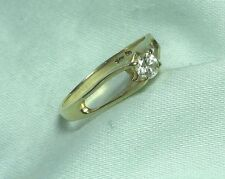18K over 14K Yellow Gold Diamond Engagement Ring 1.7 grams size 6 1/4