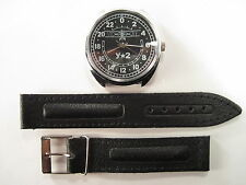 Russian mechanical watch Raketa - U2, 24 hour with black dial, 39mm