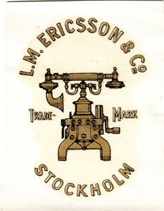 Ericsson 16 skeleton Eiffel Tower telephone decal / transfer