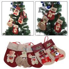 Christmas red linen knife and fork sets Christmas tree ornaments socks pend TN2F