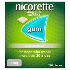 Nicorette Gum 4mg Nicotine Original Flavor, 210 Pieces NEW