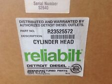 Detroit Diesel Reliabilt Cylinder Head R235525572 23511352 Series 50 Cng