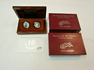 2007-W AMERICAN EAGLE PLATINUM 10TH ANNIVERSARY SET IN OGP