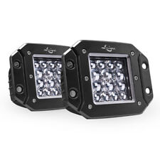 2x 42W Quad-Row LED Pods Light Bar Flush Mount Spot Offroad Driving Lamp Pickup