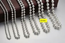 C30 Ball - Chain 8 MM Hollow Fine Silver 990 Length Selectable 60 CM To 80 CM