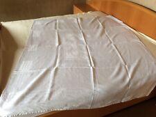 Jugendstil 2 x Tischdecke Tafeltuch Halbleinen Damast 200 x 160