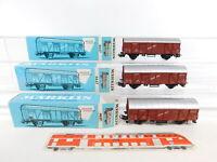 CI803-0,5# 3x Märklin H0/AC 4637 Güterwagen Bananen 568261 DB, sehr gut+OVP