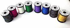 UNI AXXEL FLASH TINSEL spooled, few colors avaliable, Made in Canada