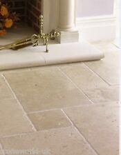 Tumbled Classic Light Travertine Floor Tiles Opus Romano Pattern