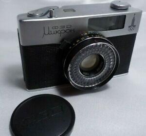 Vintage FED Micron Mikron Russian Half frame camera & Helios - 89  1019