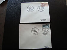 FRANCE - 2 enveloppes  1er jour 1963 1964 (journee du timbre) (cy57) french