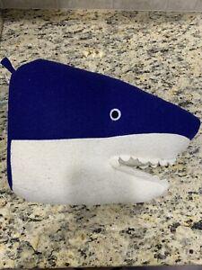 PILLOWFORT Blue Shark Animal Head Wall 3d Art Decor Kids New