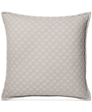 Hotel Collection Diamond Embroidered Quilted Euro Pillow Sham Beige $150