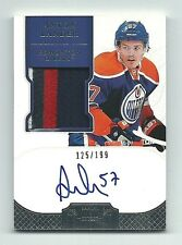 Anton Lander Edmonton Oilers 2011-12 Dominion Hockey Patch Auto Card 125/199