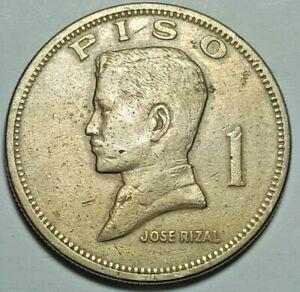 1972 Philippines 1 Piso Jose Rizal Republika Ng Pilipinas Coin