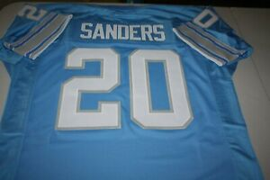 BARRY SANDERS #20 SEWN STITCHED HOME POWDER BLUE JERSEY SIZE XLG HALL OF FAME