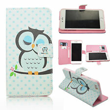 """Cute Owl Stand Leather Flip Pouch TPU Cover Case For Apple iPhone 6 Plus 5.5"""""""