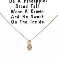 Pineapple necklace charm cute minimalist jewelry gift fashion