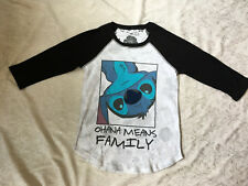 Disney Women/Girl LILO STITCH Character Graphic SHIRT 3/4 Sleeve Top S/Small 4-6