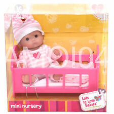 Berenguer Baby Doll Mini Nursery in Cot Lots to Love Babies For Ages 2+ New
