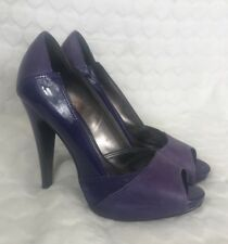 Oasis Purple Peep Toe High Heels 3 / 36 Party Shoes Platform Leather Occasion