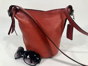 COACH Bleecker Mini Duffel Leather Bucket Bag  32281