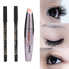 Waterproof Lashes Extension Mascara Long Curling Eyelash Eyeliner Pencil 3 in 1