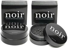 2 NOIR Natural Activated Coconut Charcoal Teeth Whitening Powder